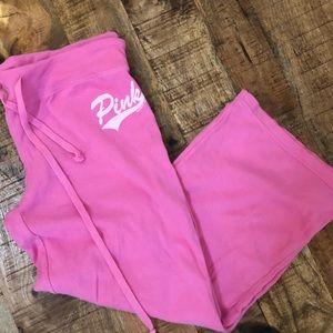 Victoria Secret Pink Capri Sweatpant Pink Small